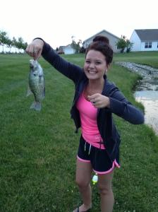 Fishing Kylea's catch