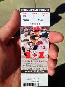 Softball ticket